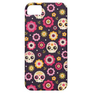Capa Barely There Para iPhone 5 Teste padrão floral do crânio mexicano do açúcar