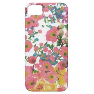 Capa Barely There Para iPhone 5 teste padrão floral do tema das flores elegantes
