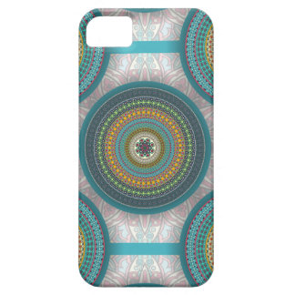 Capa Barely There Para iPhone 5 Teste padrão floral étnico abstrato colorido da