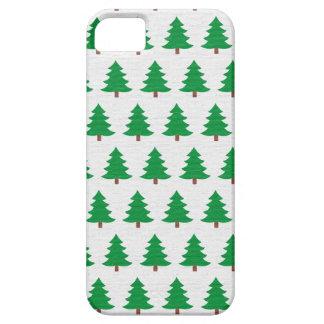 Capa Barely There Para iPhone 5 Teste padrão verde da árvore de Natal