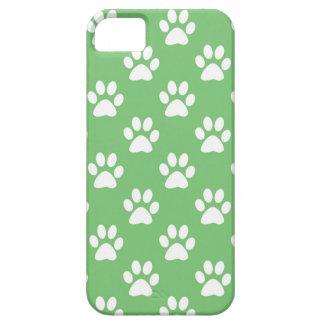 Capa Barely There Para iPhone 5 Teste padrão verde e branco das patas
