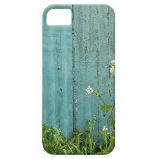 Capa Barely There Para iPhone 5 textura azul da cerca da pintura da natureza das