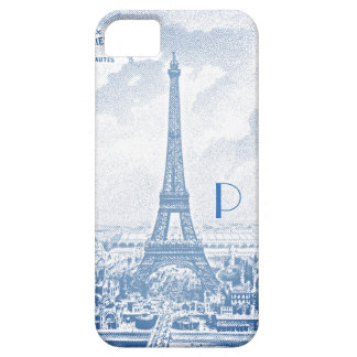 Capa Barely There Para iPhone 5 Torre Eiffel do vintage - monogrammed