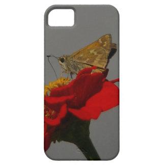 Capa Barely There Para iPhone 5 Traças e Zinnia vermelho