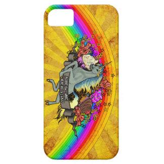Capa Barely There Para iPhone 5 Unicórnio, arco-íris & bacon impressionantes da