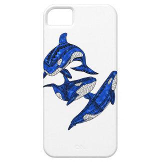 Capa Barely There Para iPhone 5 Vagem de 3 orcas tribais