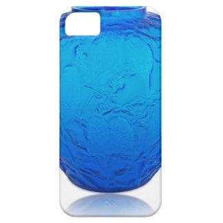 Capa Barely There Para iPhone 5 Vaso de vidro do art deco azul com pássaros