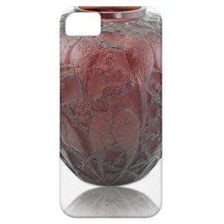 Capa Barely There Para iPhone 5 Vaso de vidro do pássaro do art deco vermelho