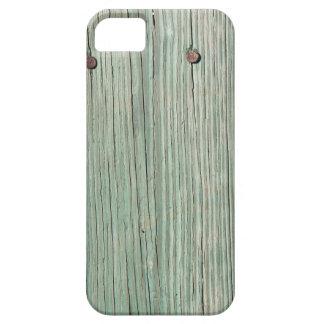 Capa Barely There Para iPhone 5 Verde e passagem de madeira da prancha de Brown