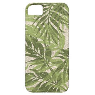 Capa Barely There Para iPhone 5 Verde tropical havaiano do vintage das palmas da