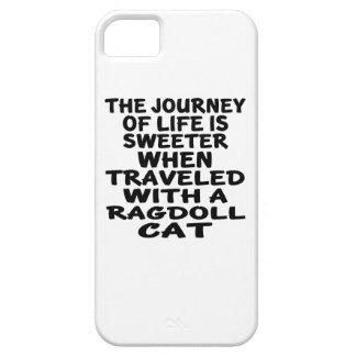 Capa Barely There Para iPhone 5 Viajado com gato de Ragdoll