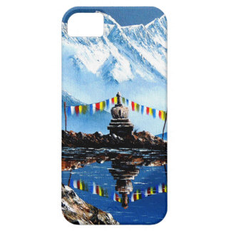Capa Barely There Para iPhone 5 Vista panorâmica da montanha Nepal de Annapurna