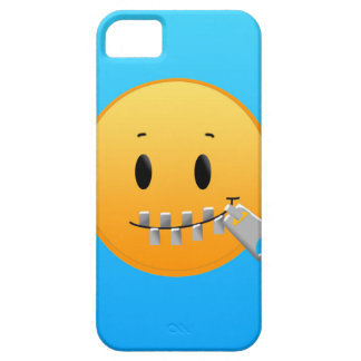Capa Barely There Para iPhone 5 Zipper Emoji