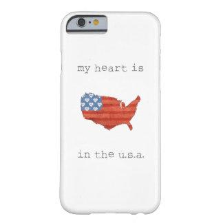 Capa Barely There Para iPhone 6 A americana   meu coração está no mapa dos EUA