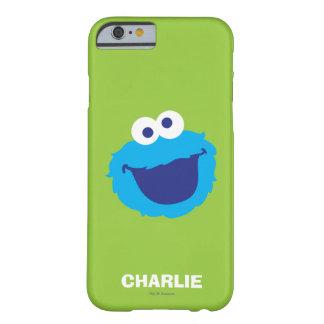 Capa Barely There Para iPhone 6 A cara | do monstro do biscoito adiciona seu nome