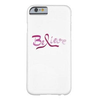 Capa Barely There Para iPhone 6 A fita do rosa do sobrevivente do cancro da mama