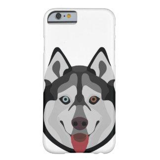 Capa Barely There Para iPhone 6 A ilustração persegue o rouco Siberian da cara