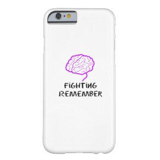 Capa Barely There Para iPhone 6 A luta roxa da consciência de Alzheimers recorda