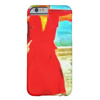 Capa Barely There Para iPhone 6 A monge super do ajustado no vermelho