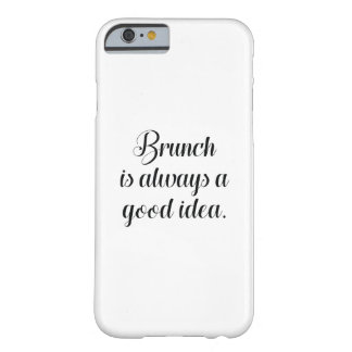 Capa Barely There Para iPhone 6 A refeição matinal é sempre uma boa ideia