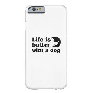 Capa Barely There Para iPhone 6 A vida do animal de estimação da pata do cão do