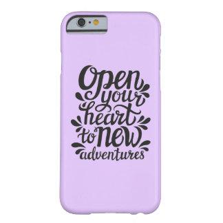 Capa Barely There Para iPhone 6 Abra seu coração às aventuras novas