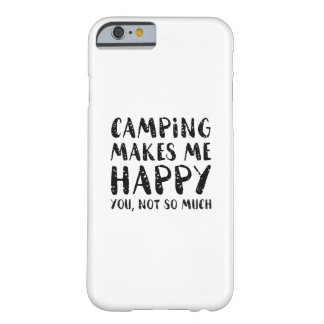 Capa Barely There Para iPhone 6 Acampar faz-me feliz
