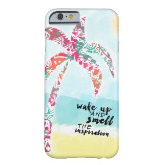 Capa Barely There Para iPhone 6 acorde e cheire a inspiração, a praia e a palma