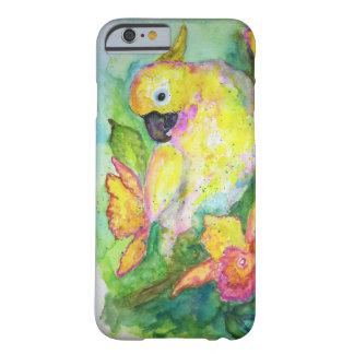 Capa Barely There Para iPhone 6 Aguarela branca do papagaio