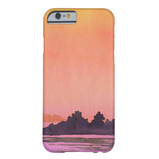 Capa Barely There Para iPhone 6 Aguarela da paisagem da serenidade