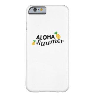 Capa Barely There Para iPhone 6 Aloha abacaxi engraçado da fruta das horas de