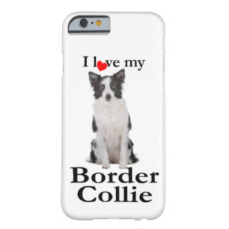 Capa Barely There Para iPhone 6 Ame meu caso de border collie Smartphone