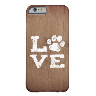 Capa Barely There Para iPhone 6 AMOR com impressão da pata do cão