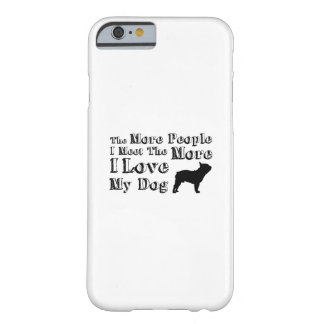 Capa Barely There Para iPhone 6 Amor engraçado do animal de estimação I da pata do