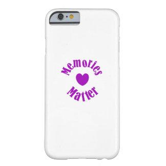 Capa Barely There Para iPhone 6 Amor roxo das memórias da fita da consciência de