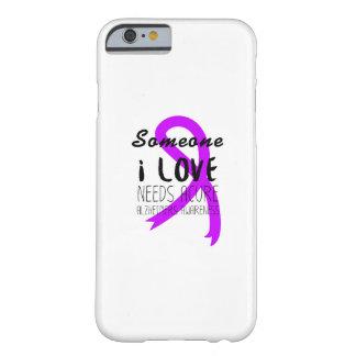 Capa Barely There Para iPhone 6 Amor roxo do apoio da fita da consciência de