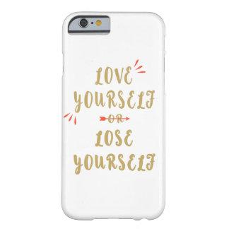 Capa Barely There Para iPhone 6 Amor você mesmo ou perder você mesmo