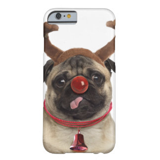 Capa Barely There Para iPhone 6 Antlers do Pug - pug do Natal - Feliz Natal