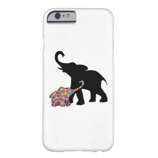 Capa Barely There Para iPhone 6 Apoio da consciência do autismo do elefante