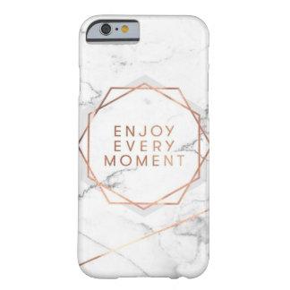 Capa Barely There Para iPhone 6 Aprecie cada caixa cor-de-rosa do ouro do mármore