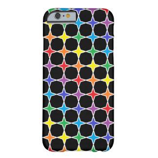 Capa Barely There Para iPhone 6 Arco-íris esboçado branco estrelas de 4 pontos