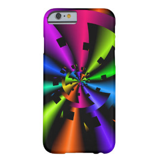 Capa Barely There Para iPhone 6 Arco-íris metálico do Fractal