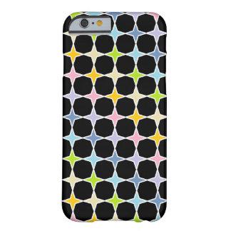Capa Barely There Para iPhone 6 Arco-íris Pastel esboçado branco estrelas de 4