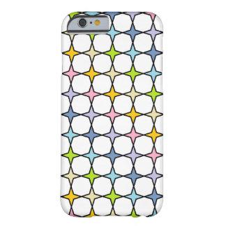 Capa Barely There Para iPhone 6 Arco-íris Pastel esboçado preto estrelas de 4