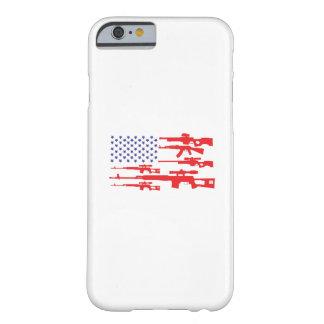 Capa Barely There Para iPhone 6 Arma patriótica do orgulho dos EUA da bandeira