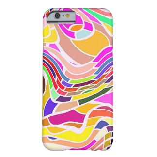 Capa Barely There Para iPhone 6 Arte abstracta colorida, linhas brancas das formas
