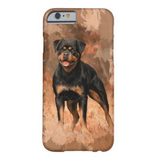 Capa Barely There Para iPhone 6 Arte da aguarela da pintura a óleo do cão de