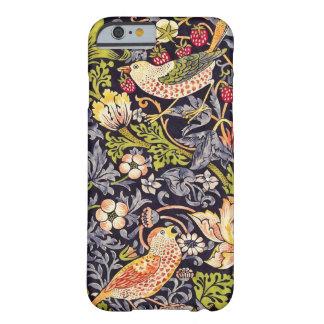 Capa Barely There Para iPhone 6 Arte floral Nouveau do ladrão da morango de