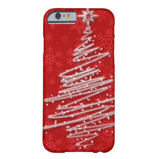 Capa Barely There Para iPhone 6 Árvore de Natal Scribbled