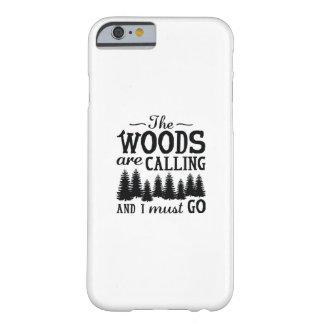 Capa Barely There Para iPhone 6 As madeiras estão chamando